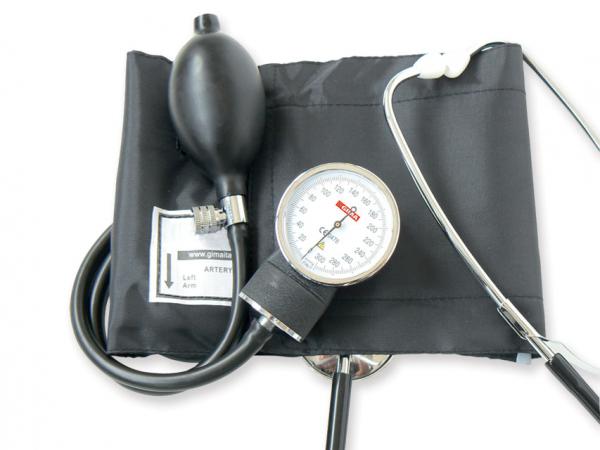 Tensiometru mecanic aneroid cu manometru si stetoscop YTON 0