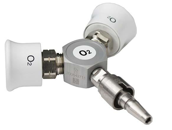 Conector / Distribuitor Y pentru oxigen medical, standard DIN [0]