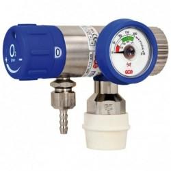 Reductor / Regulator presiune oxigen cu selector de debit Mediselect II, cu iesiri 9/16 si cupla rapida DIN0