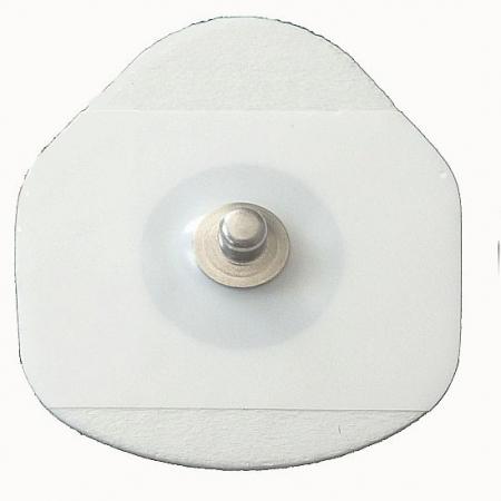 Electrozi EKG de unica utilizare autoadezivi 40x36mm cu capsa, pachet 100 buc.0