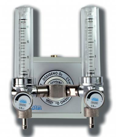 Debitmetru dublu pentru oxigen - 0 - 30l/min - FLUX-0050 [0]