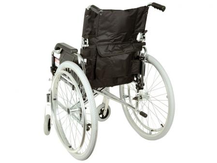 Fotoliu / scaun rulantcu sezut de46 cm - țesut negru - Pliabil - ROYAL1