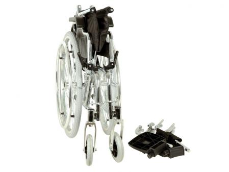Fotoliu / scaun rulantcu sezut de46 cm - țesut negru - Pliabil - ROYAL4