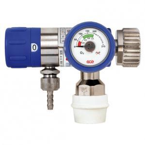 Reductor / Regulator presiune oxigen cu selector de debit Mediselect II, cu iesiri 9/16 si cupla rapida DIN1