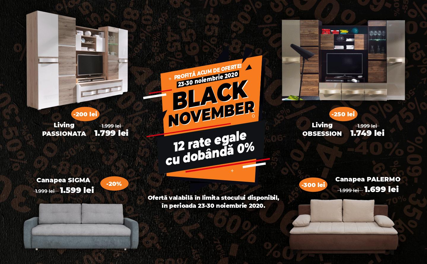Black November - Livinguri, Canapele