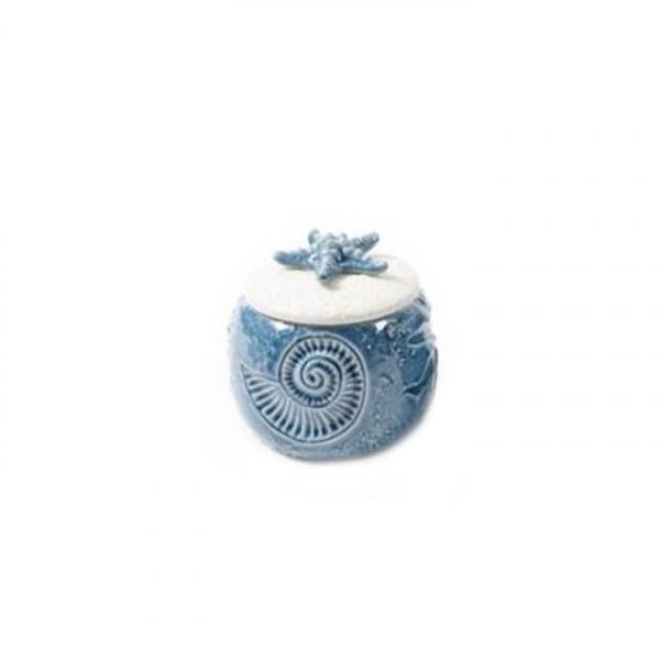 Borcan cu capac, sea, diametru 11,5 cm, inaltime 14 cm, portelan - Expomob 0
