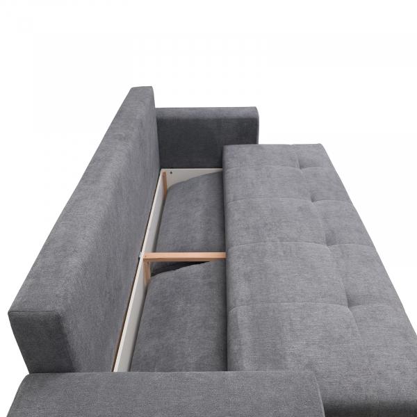 Canapea AZURRO 3L, extensibila, relaxa, cu lada depozitare 3