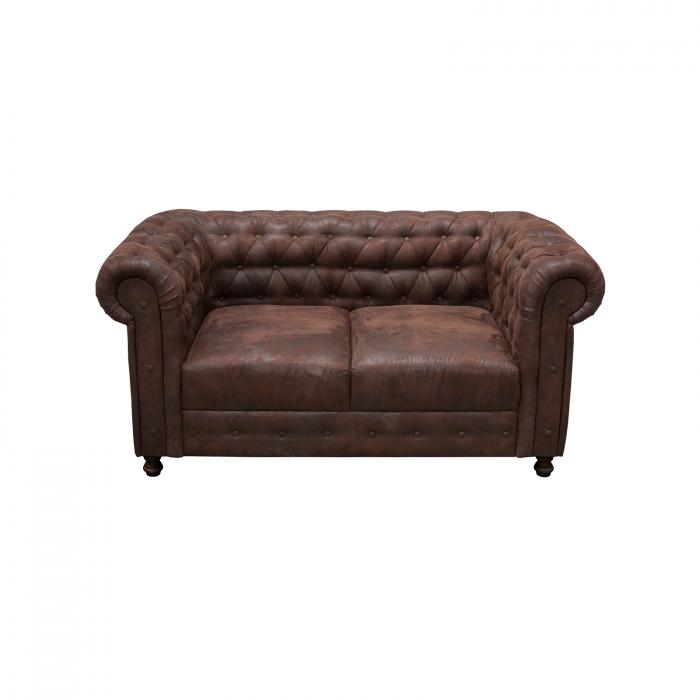 Canapea Fixa Chesterfield cu 2 locuri - ExpoMob [0]