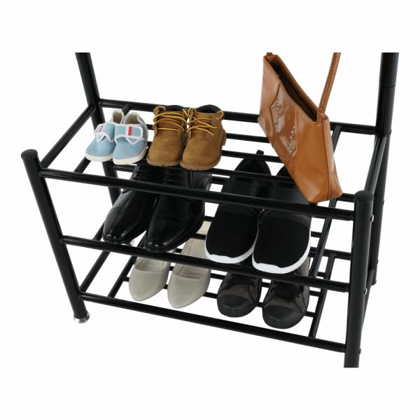 Cuier BARNUM cu dulap pentru încălţâminte, metal negru - Expomob 10