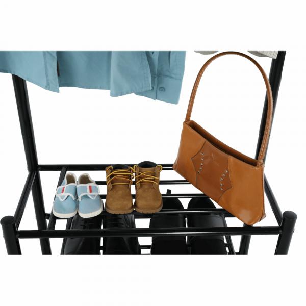 Cuier BARNUM cu dulap pentru încălţâminte, metal negru - Expomob 9