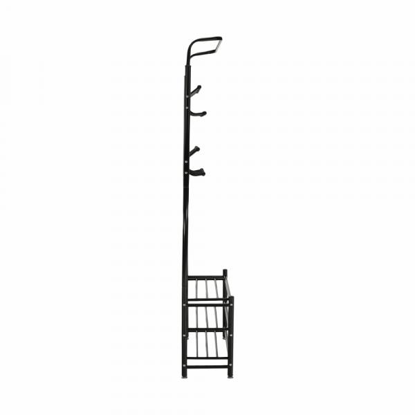 Cuier BARNUM cu dulap pentru încălţâminte, metal negru - Expomob 2
