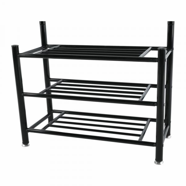 Cuier BARNUM cu dulap pentru încălţâminte, metal negru - Expomob 7