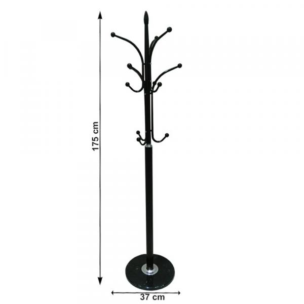 Cuier BELVIN, metal / marmură neagră - Expomob 1