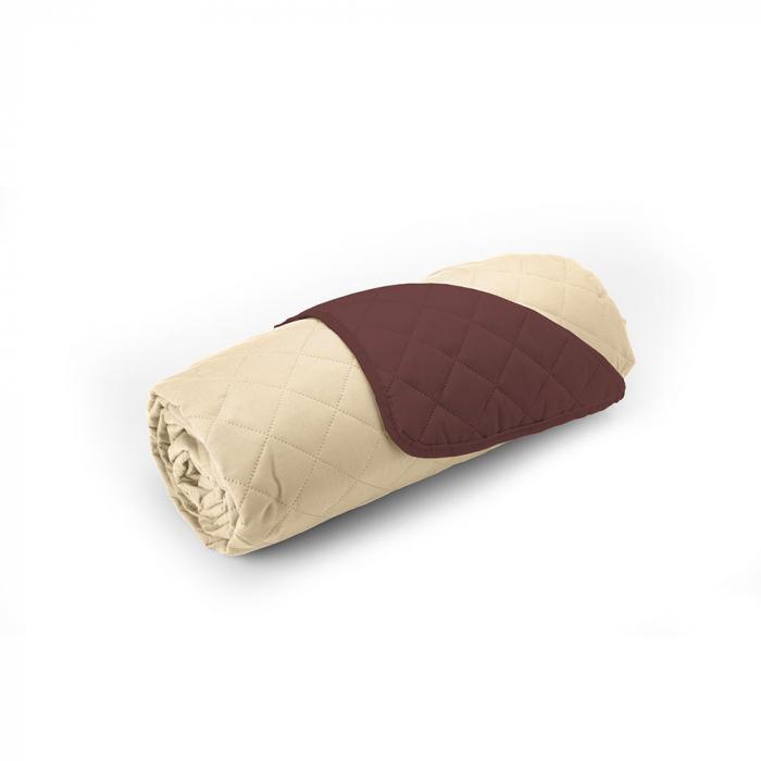 Cuvertura matlasata cu 2 fete, microfibra, 210x220 cm, Chocolate & Vanila - ExpoMob 3