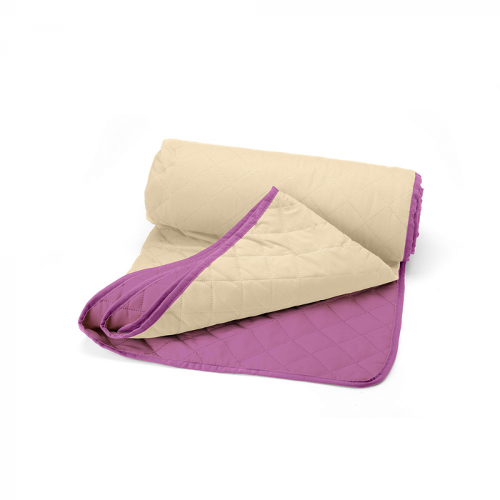 Cuvertura matlasata cu 2 fete, microfibra, 210x220 cm, Purple & Vanila - ExpoMob [1]