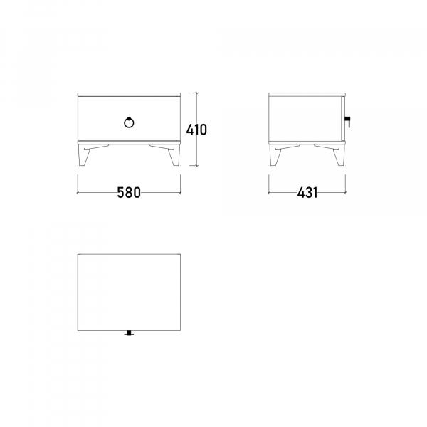 Dormitor ABELYA cu somieră și spațiu depozitare 12