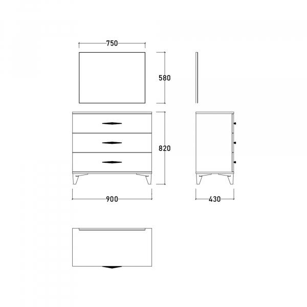 Dormitor DREAM cu somieră și spațiu depozitare 13