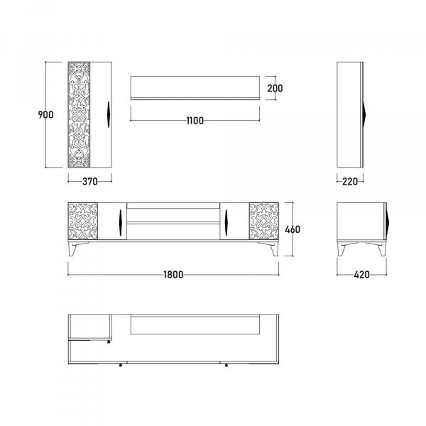 Dormitor DREAM cu somieră și spațiu depozitare 10