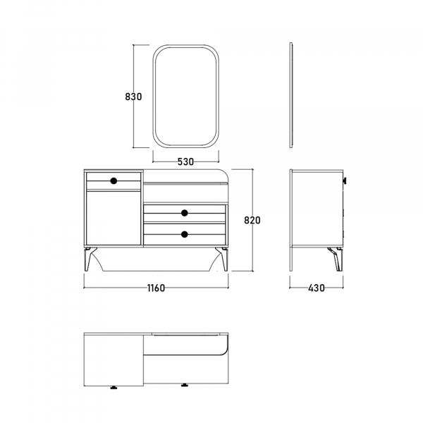 Dormitor EYMIR cu somieră și spațiu depozitare 14