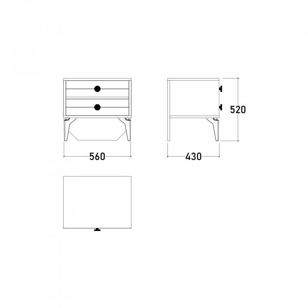 Dormitor EYMIR cu somieră și spațiu depozitare 15
