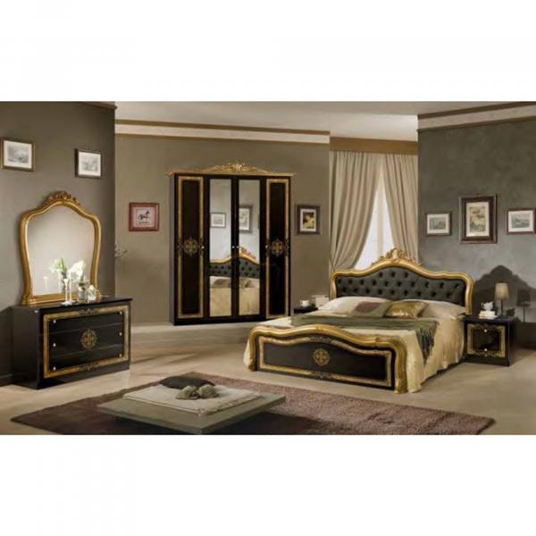 Dormitor LUISA 4 USI + somiera metalica cu lamele din lemn de fag 2