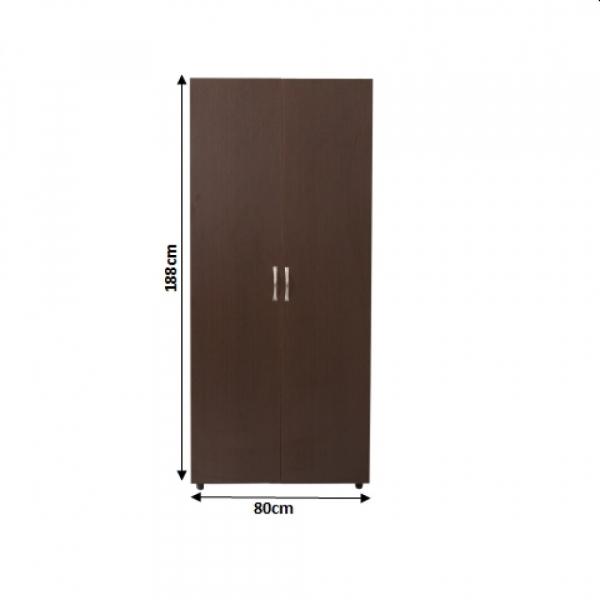 Dulap Corina cu 2 usi si bara haine pentru dormitor - ExpoMob [1]