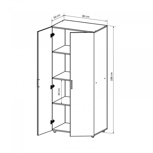 Dulap in 2 usi pentru dormitor - ExpoMob 3