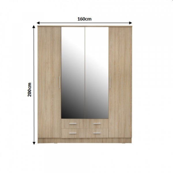 Dulap OFELIA 4 usi cu oglinda 1