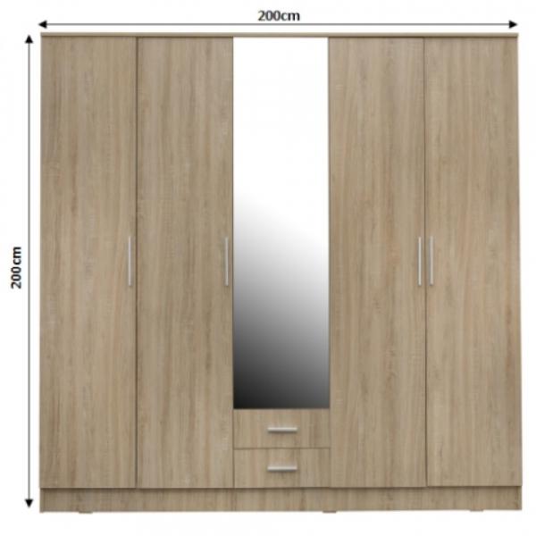 Dulap OFELIA 5 usi cu oglinda 1