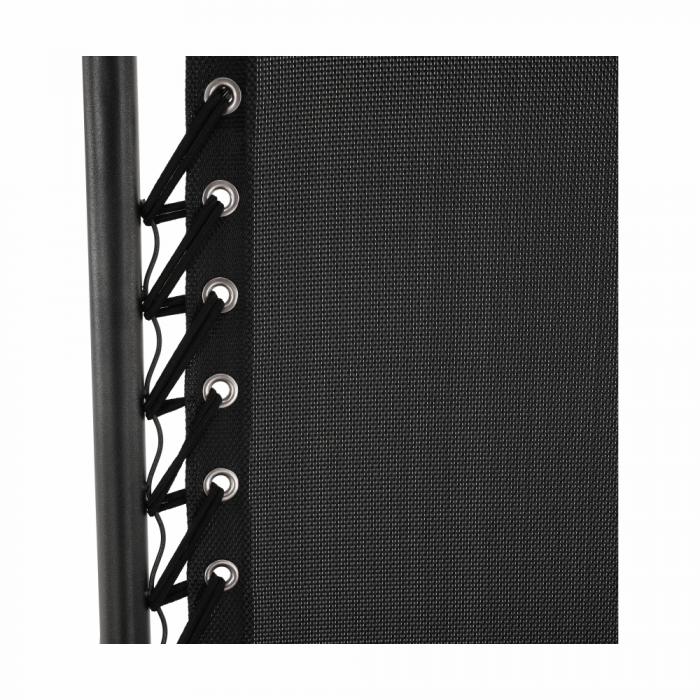 Şezlong de grădină reglabil, negru, GERALD - Expomob 8