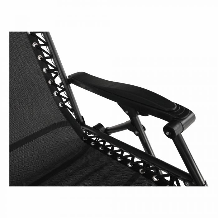 Şezlong de grădină reglabil, negru, GERALD - Expomob 9