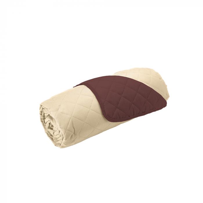 Husa pentru canapea 3 locuri matlasata cu doua fete, Chocolate / Vanila - Expomob 3