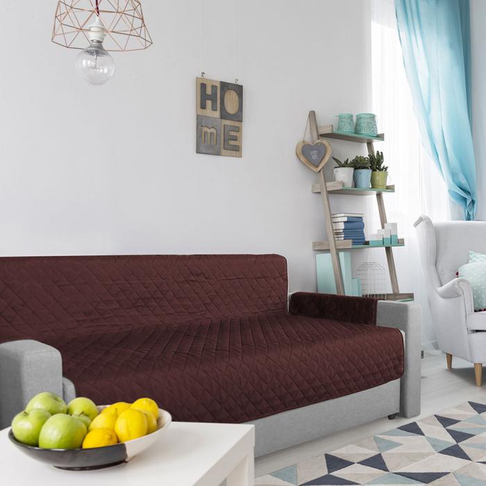 Husa pentru canapea 3 locuri matlasata cu doua fete, Chocolate / Vanila - Expomob 5