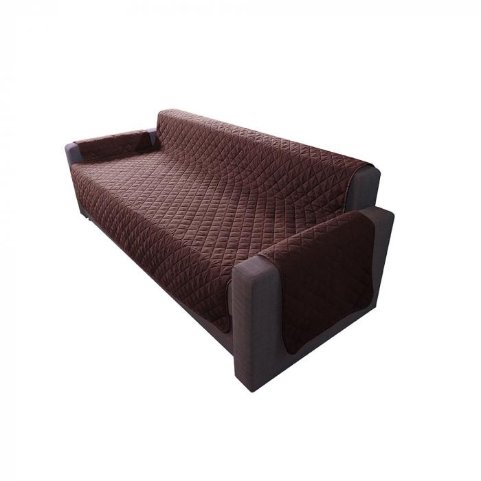 Husa pentru canapea 3 locuri matlasata cu doua fete, Chocolate / Vanila - Expomob 0