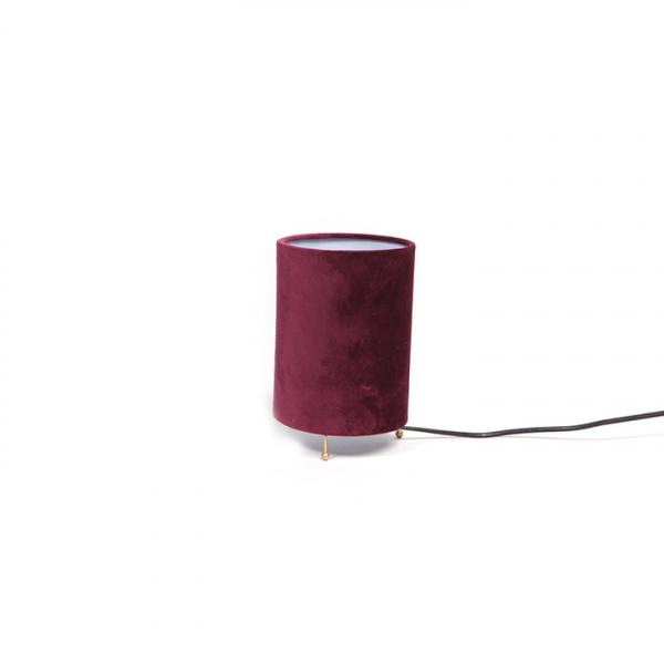 Lampa cu abajur catifea, diametru 13, inaltime 20 cm - Expomob 0