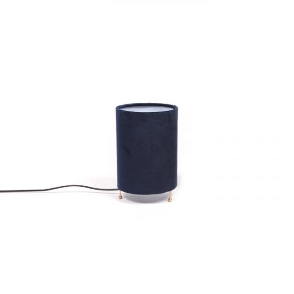 Lampa cu abajur catifea - Diametru 13 cm Inaltime 20 cm - ExpoMob [0]