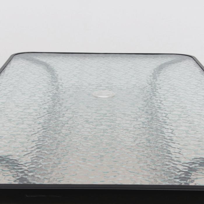 Masă dining cu loc pentru umbrelă, sticlă întărită/oţel, DEMAT NEW - Expomob [6]