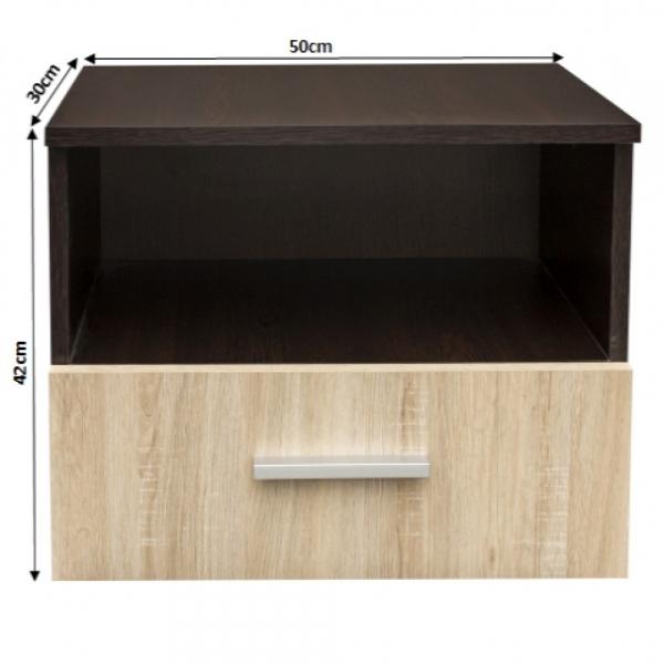 Noptiera Alma cu un sertar pentru dormitor- ExpoMob [2]
