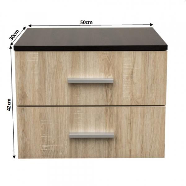 Noptiera Alma cu 2 sertare pentru dormitor- ExpoMob 2