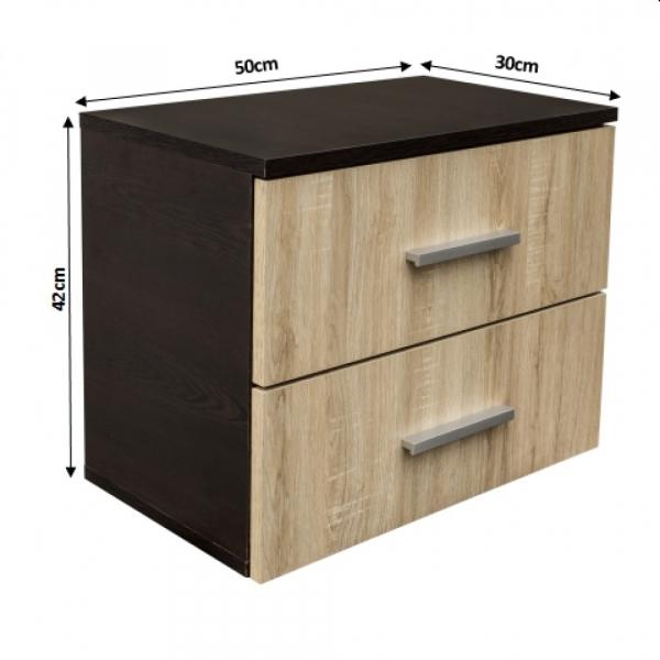 Noptiera Alma cu 2 sertare pentru dormitor- ExpoMob 3
