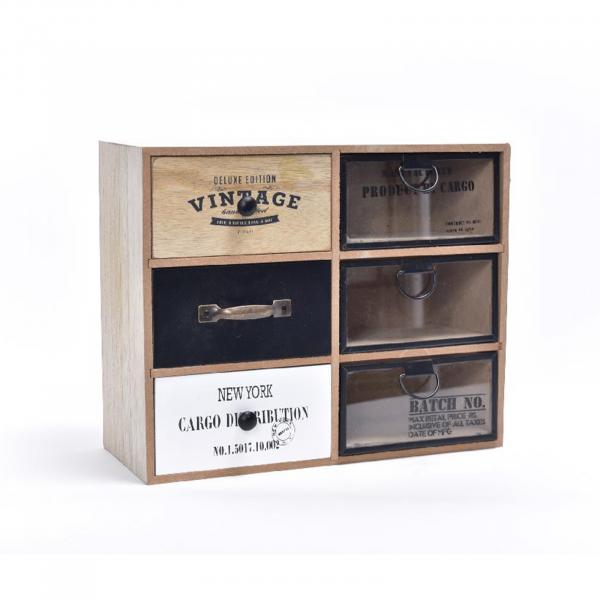 Organizator din lemn si metal 29,5x12 cm, înălțime 23,6 cm - ExpoMob 0