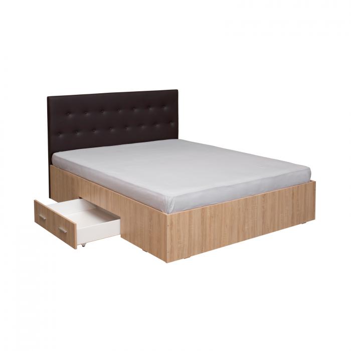 Pat Ofelia II 140x200 cu sertar pentru dormitor - ExpoMob 2