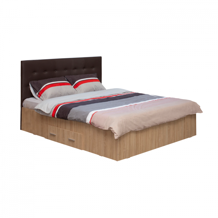 Pat Ofelia II 140x200 cu sertar pentru dormitor - ExpoMob 0