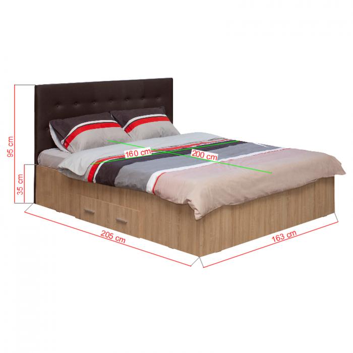 Pat Ofelia II 160x200 cu sertar pentru dormitor - ExpoMob [3]