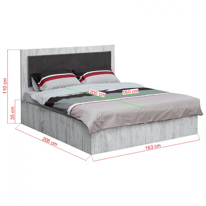 Pat Sofia 160x200 pentru dormitor - ExpoMob [1]