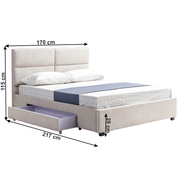 Pat Suzi gri-maro 160x200 pentru dormitor - ExpoMob [1]