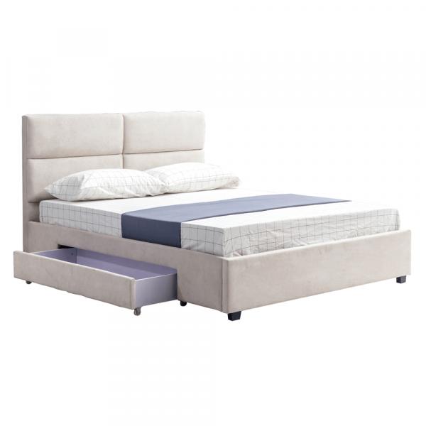 Pat Suzi gri-maro 160x200 pentru dormitor - ExpoMob [0]