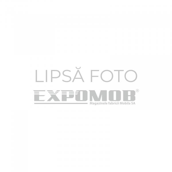 Pat tapitat cu piele ecologica Regal 160x200 cu somiera cu lamele din fag - ExpoMob 0