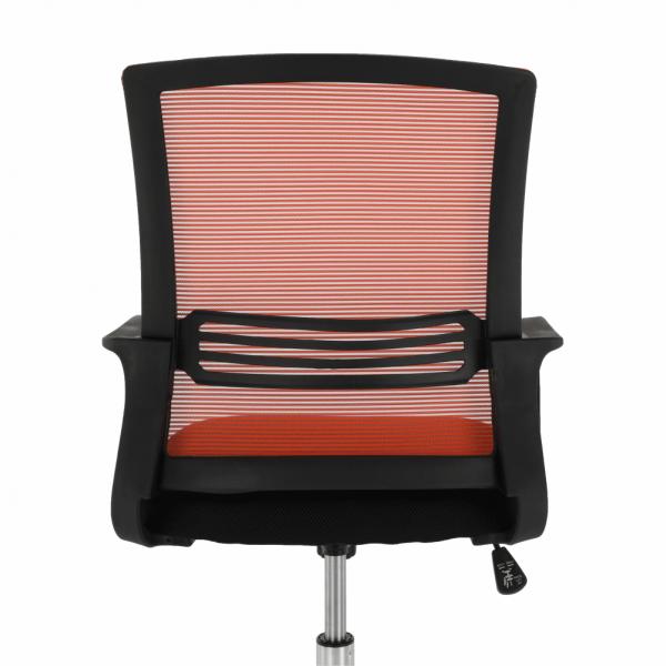 Scaun de birou, mesh portocaliu/material textil negru, APOLO - Expomob 10