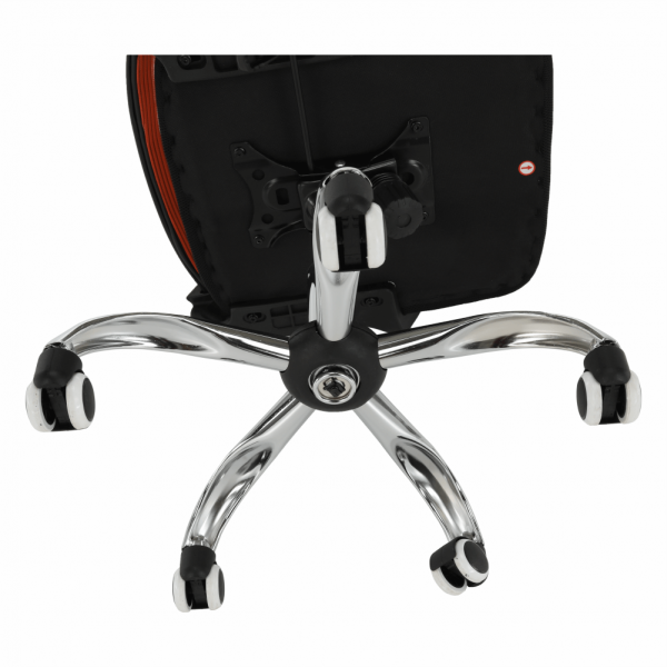 Scaun de birou, mesh portocaliu/material textil negru, APOLO - Expomob 14
